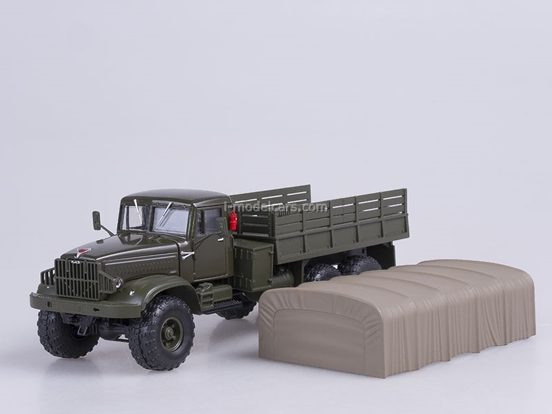 KRAZ-255B1 board with awning 1969 green matte 1:43 Nash Avtoprom
