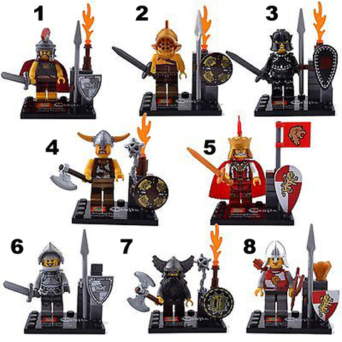 Minifigures Castle Soldiers Blocks Building Series 02