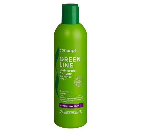 Concept Green Line Шампунь-пилинг для жирных волос 300 мл