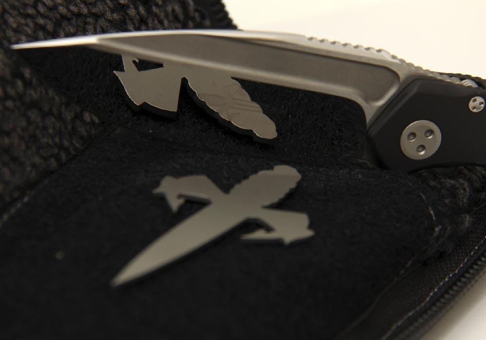 Нож Marfione Custom Anax Integral Frame Lock Knife Black Aluminum