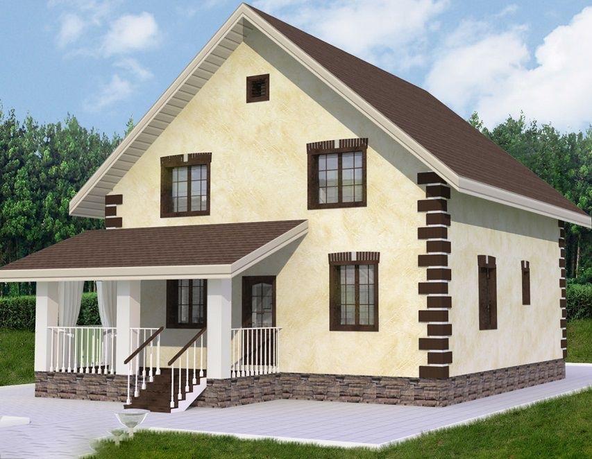 """Строительство каменных домов Дом из камня """"МД-К-153"""" 153 кв.м. k-153.jpg"""