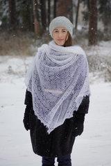 Оренбургский пуховый платок 66 фото 2