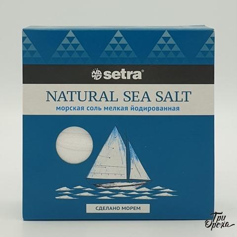 Соль морская мелкая йодированная SETRA, 500 гр.
