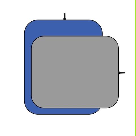 Фон тканевый двусторонний на каркасе Fotokvant FTR-1166 1,5x2 m. Blue Gray (BG-1520)