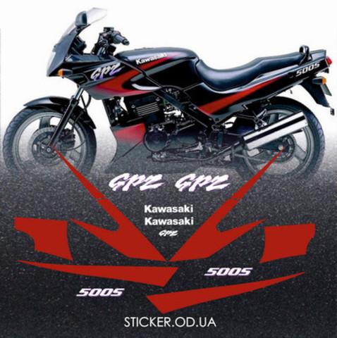 Набор виниловых наклеек на мотоцикл KAWASAKI GPZ 500S 1999