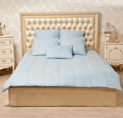 Одеяло Камелия. Пух 1 категории. Легкое. цвет голубой