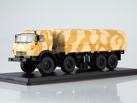 KAMAZ-6350 Mustang camouflage Desert yellow-beige 1:43 Start Scale Models (SSM)