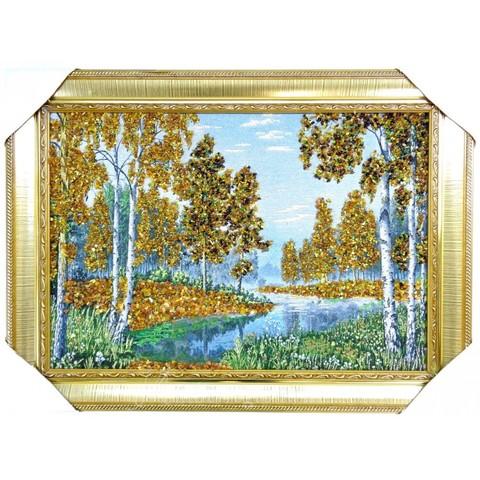 Картина из натурального янтаря в ассортименте