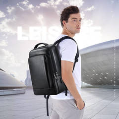 Рюкзак деловой BOPAI чёрный, экокожа