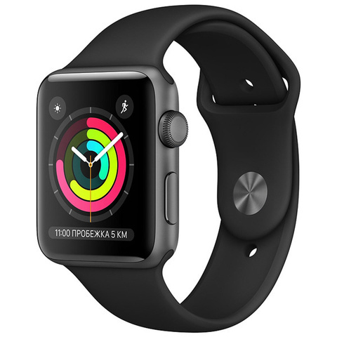 Watch S3 38mm Space Grey Al/Black Sport Band