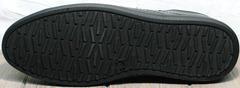 Черные кроссовки с черной подошвой мужские весна осень Novelty 5235 Black.
