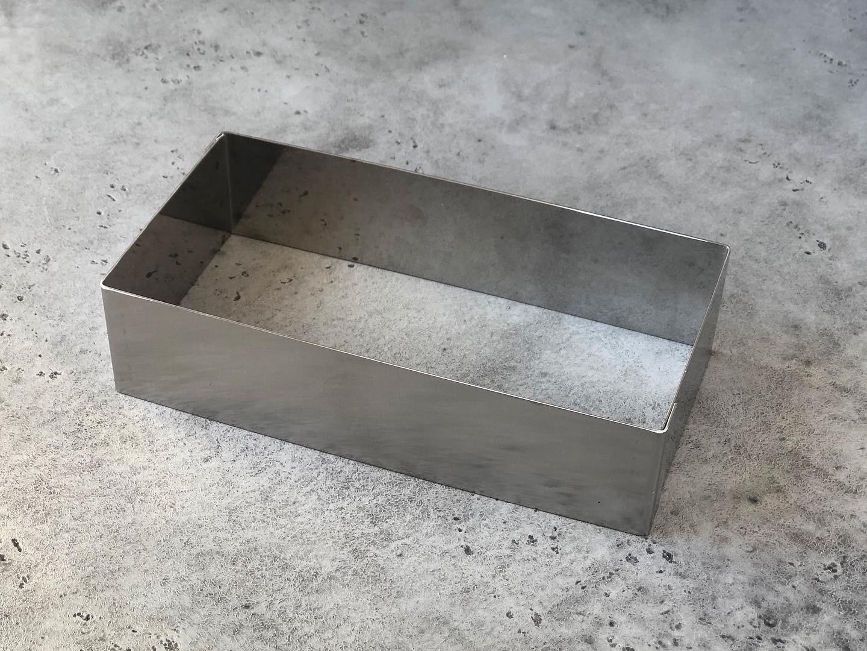 Металлическая форма прямоугольная, 20х10х5 см