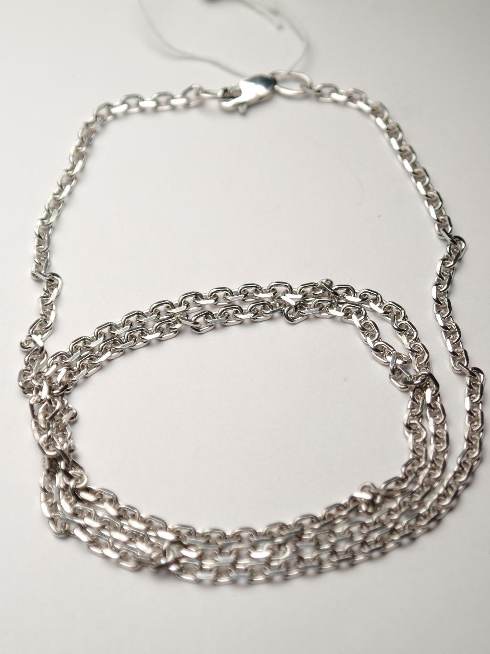 Якорь прямоугольный (серебряная цепочка)