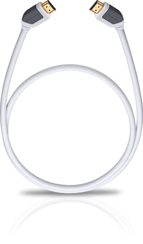 Oehlbach Shape Magic-HS HDMI, white 10.00m, HDMI кабель