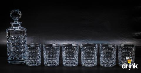 Набор для виски DIAMOND, 1 штоф и 6 стаканов