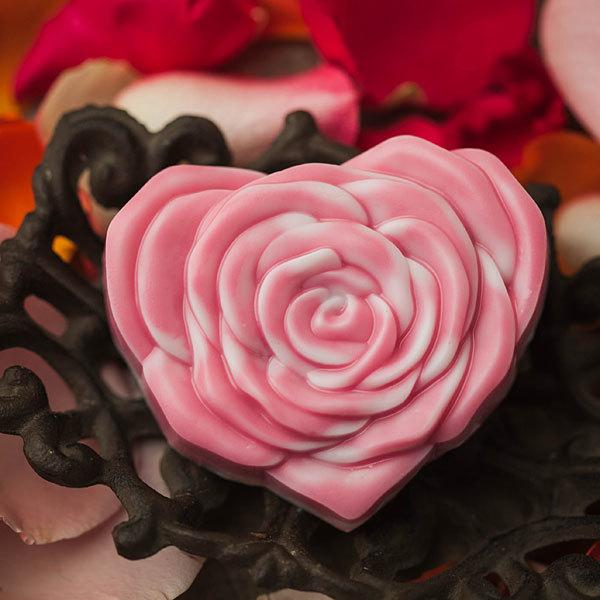 Форма для мыла Сердце-роза
