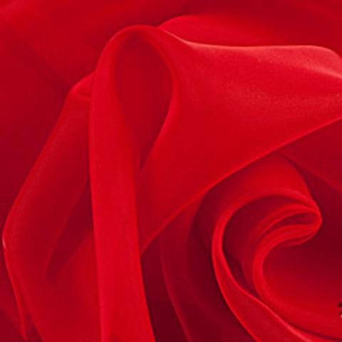 Ткань вуаль однотонная для штор - красная. Ш - 300 см. Арт. -SH 43A