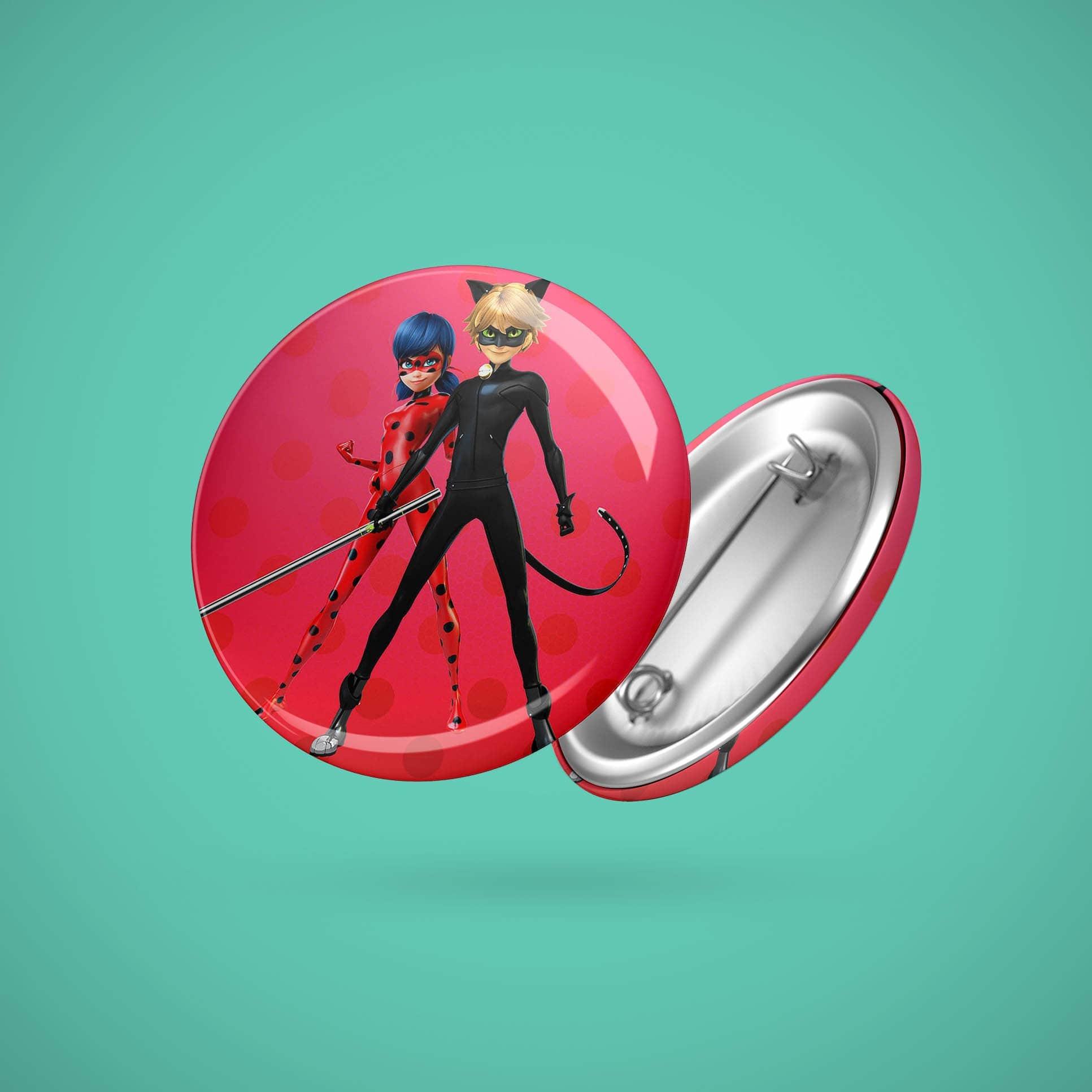 Большой значок с Леди Баг и Супер Котом - купить в интернет-магазине kinoshop24.ru
