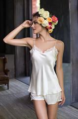 Пижама с шортами натуральный шелк MIA-MIA  Kristy КРИСТИ  15112