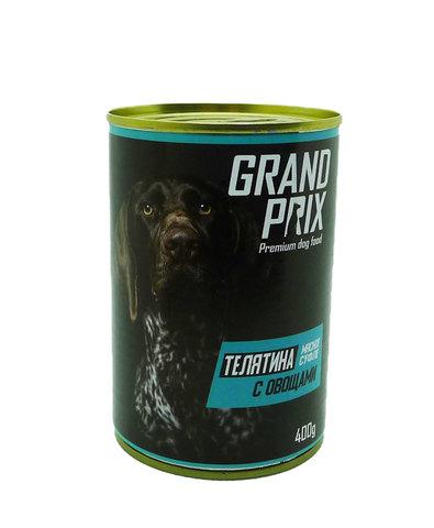 Grand Prix консервы для собак суфле телятина с овощами 400г