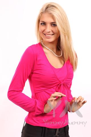 Блуза  для беременных и кормящих цикламен