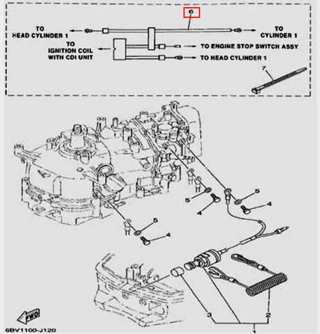 Жгут проводов для лодочного мотора F5 Sea-PRO(12-6)