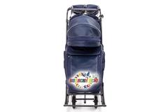 Санки коляска PIKATE Deluxe «Sapphire»