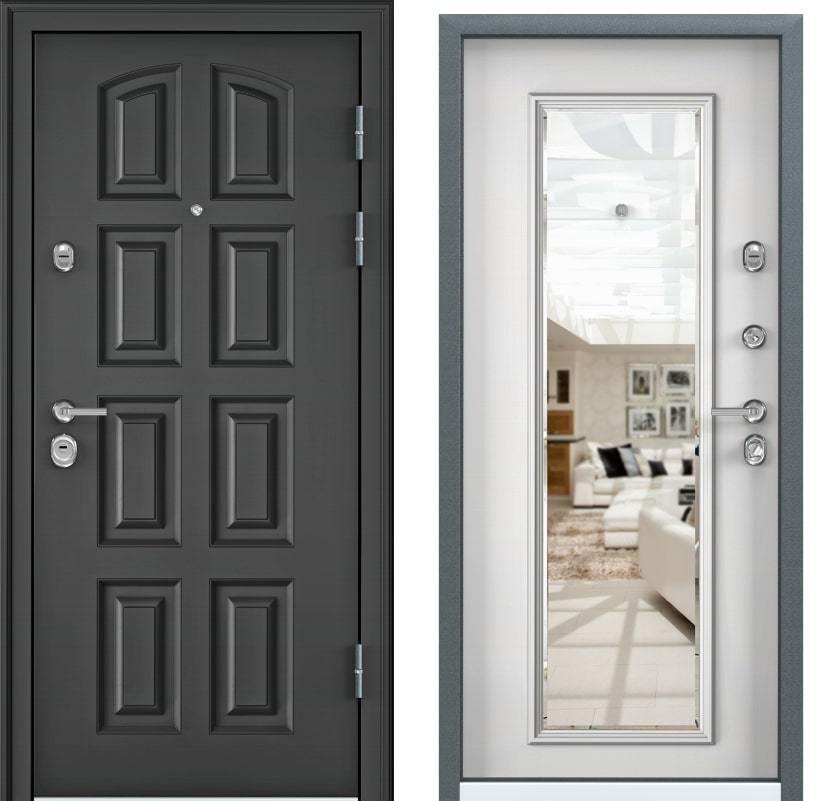 Входные двери для квартиры Torex Ultimatum M PK-4U тёмный пепел KB-11 белый generated_image-13.jpg