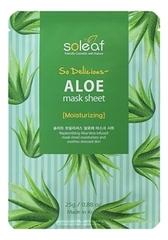 Тканевая маска для экспресс-увлажнения лица с экстрактом алоэ So Delicious Aloe Mask Sheet 25мл