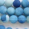 Бусина Агат цветочный матовый (тониров), шарик, цвет - сине-голубой, 12 мм, нить