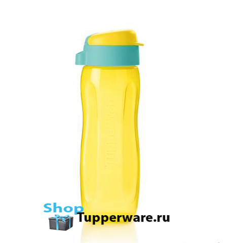 Эко-бутылка Стиль (500 мл) желтая