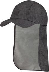 Кепка с защитой шеи от солнца Buff Bimini Cap Zinc Dark Grey