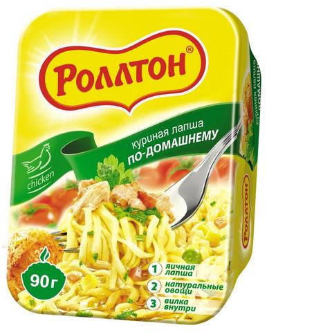 Лапша Роллтон по-домашннму куриная (лоток) 90г