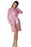 Женский халат с атласной отделкой B&B