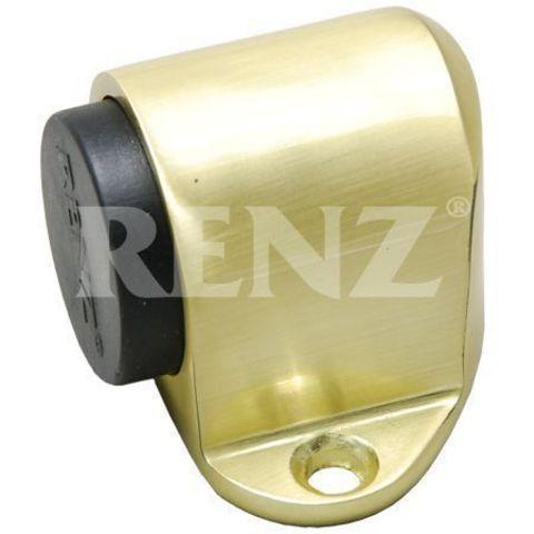 Фурнитура - Ограничитель Дверной напольный Renz DS 31, цвет латунь матовая