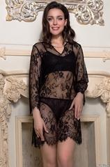 Туника из черного кружева MIA-AMORE Шанель Fashion 2125