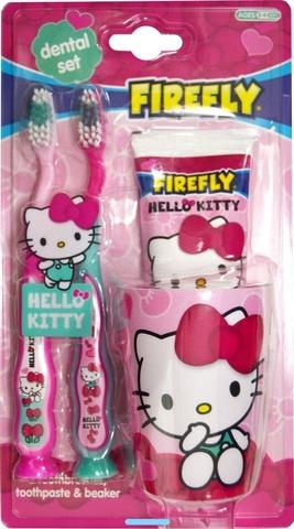 Набор дентальный Hello Kitty: зубная щетка 2 шт + зубная паста 75 мл + стаканчик