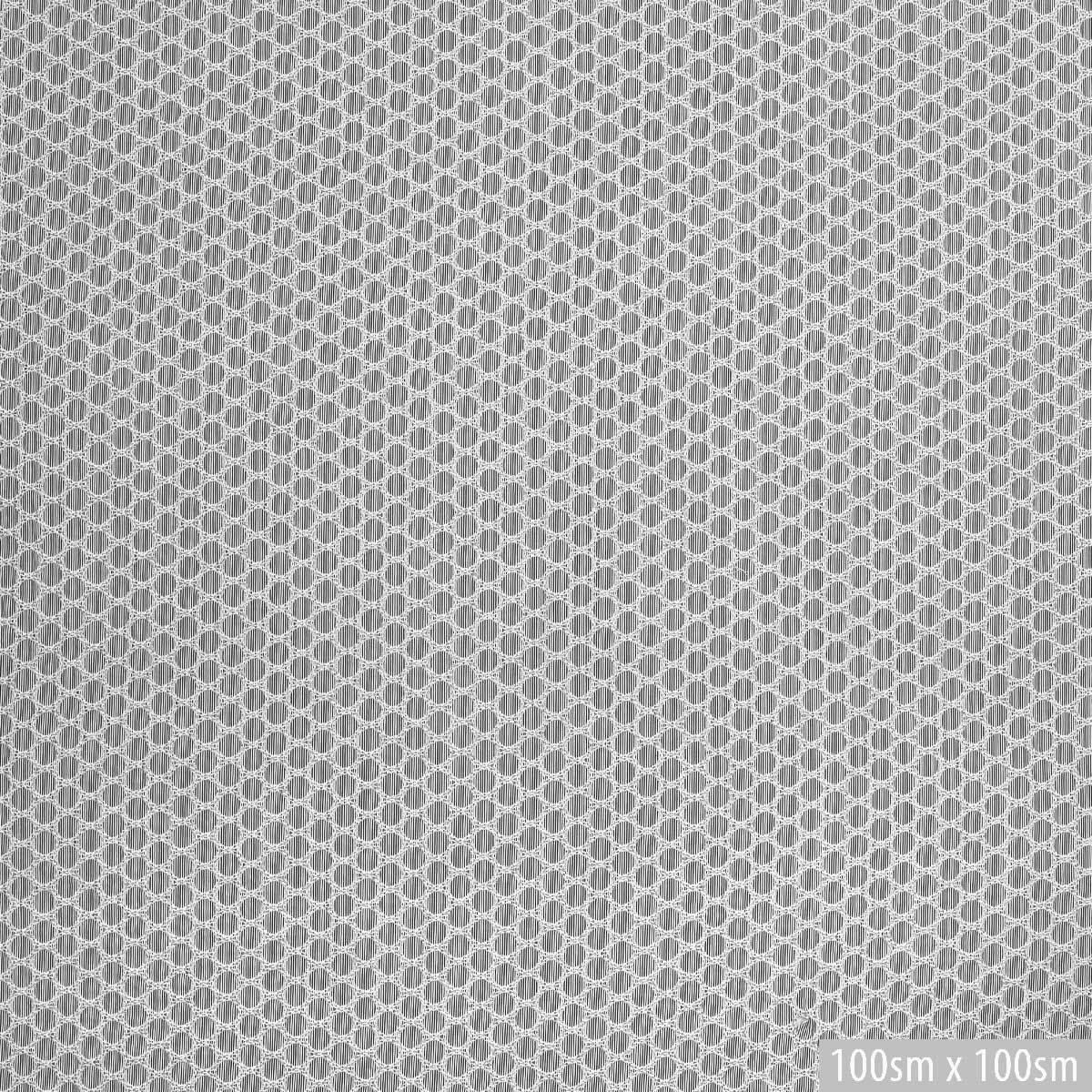 Вышитый хлопок в тонкую черно-белую полоску