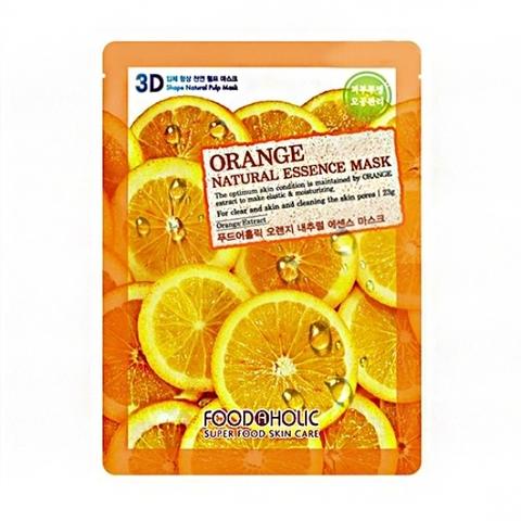 FoodaHolic 3D Маска с натуральным экстрактом апельсина (ткан.) 23г