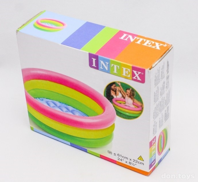 Надувной бассейн радуга intex