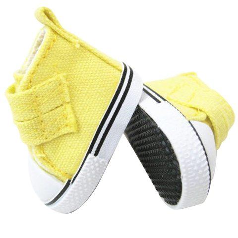 Взуття для ляльки Let's make Кеди на липучці лимонні