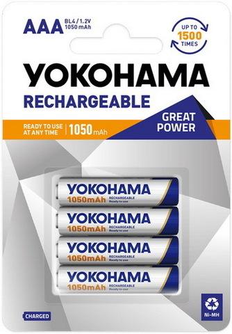 Аккумуляторы Yokohama R03, AAA (1050mAh) Ni-MH
