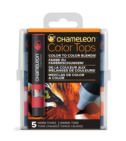 Набор цветовых блендеров Chameleon Color Tones Warm Tones, теплые тона, 5 шт.