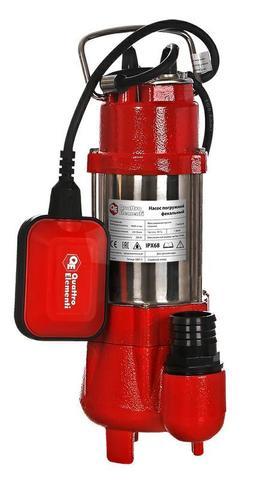 Фекальный насос QUATTRO ELEMENTI Sewage  300F Ci (300 Вт, 9000 л/ч, для грязной, 7 м, 9,0 кг)