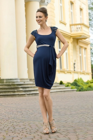Платье для беременных 05391 синий