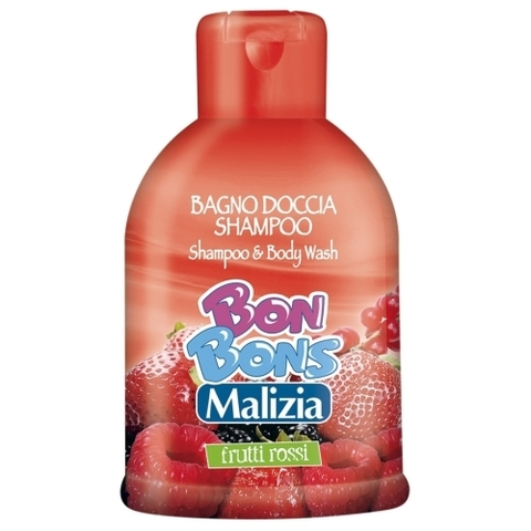 Malizia Bon Bons Шампунь-пена для душа 2в1 Red fruits 500 мл