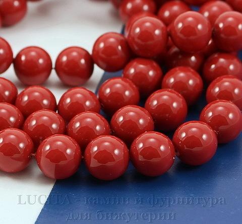 5810 Хрустальный жемчуг Сваровски Crystal Red Coral круглый 8 мм , 5 шт (Crystal Red Coral 2)