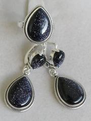 Мечта (кольцо + серьги из серебра)