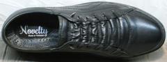 Полностью черные кроссовки кеды мужские на осень Novelty 5235 Black