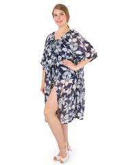 B1233-9-1 платье темно-синее